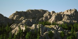 1K Mountain terrain Minecraft
