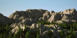 1K Mountain terrain Minecraft Map & Project
