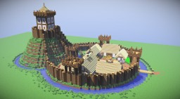 Motte and Bailey Castle Minecraft