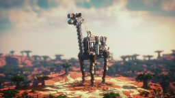 Mechanical giraffe Minecraft Map & Project