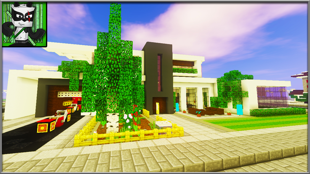 How to build a modern house 8 part series minecraft blog modern house tutorial baditri Choice Image