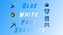 Blue White Fade Shadowed version 1.8 - 1.12.2 Minecraft Texture Pack