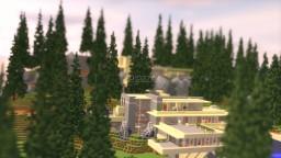 Frank Lloyd Wright's Fallingwater (Exterior) Minecraft