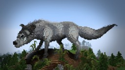 Slightly Surreal Wolf + Timelapse Minecraft Project