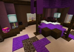 Purple bedroom Minecraft Map & Project