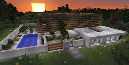 Modern concrete house #2 Minecraft Project