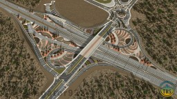 Esterlon Route 1 & F5 Modified Parclo Interchange | AMB | TRS Minecraft Map & Project