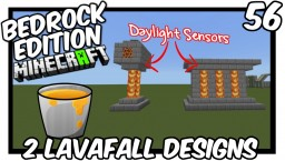 2 Daylight Sensor Lavafall Designs Tutorial Minecraft Map & Project