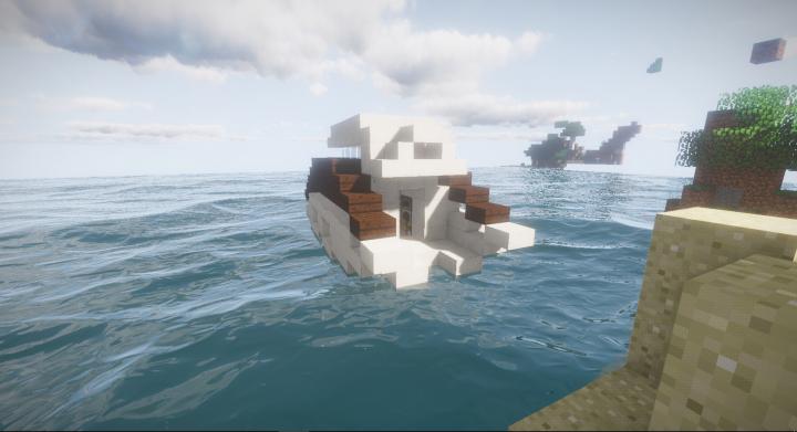 Modern Yacht Exterior Interior Minecraft Project