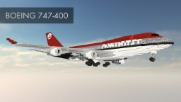 Avteam Boeing 747-400 Minecraft Map & Project
