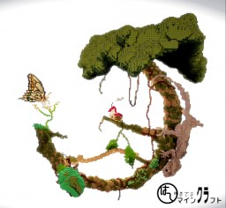 """A house on the dragon""""s tree Minecraft"""