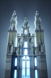"""Cathedral di Santiago de Compostela"" by Dogester. Minecraft"