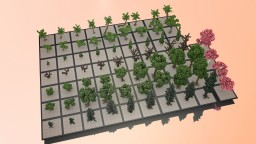 TreePack / Minecraft / 77 Trees Minecraft Project