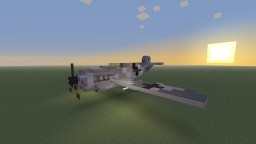 WWII German Messerschmitt Bf-109 fighter plane, Eastern Front camo, 109E and Erich Hartmann's fighter Minecraft Map & Project