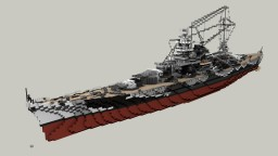 German Battlecruiser Scharnhorst 1:1 Minecraft Map & Project