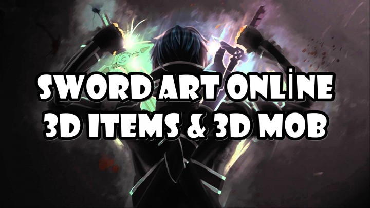 Popular Texture Pack : Sword Art Online 3D Texture Pack | 1.11.2 | 3D Mobs & Items
