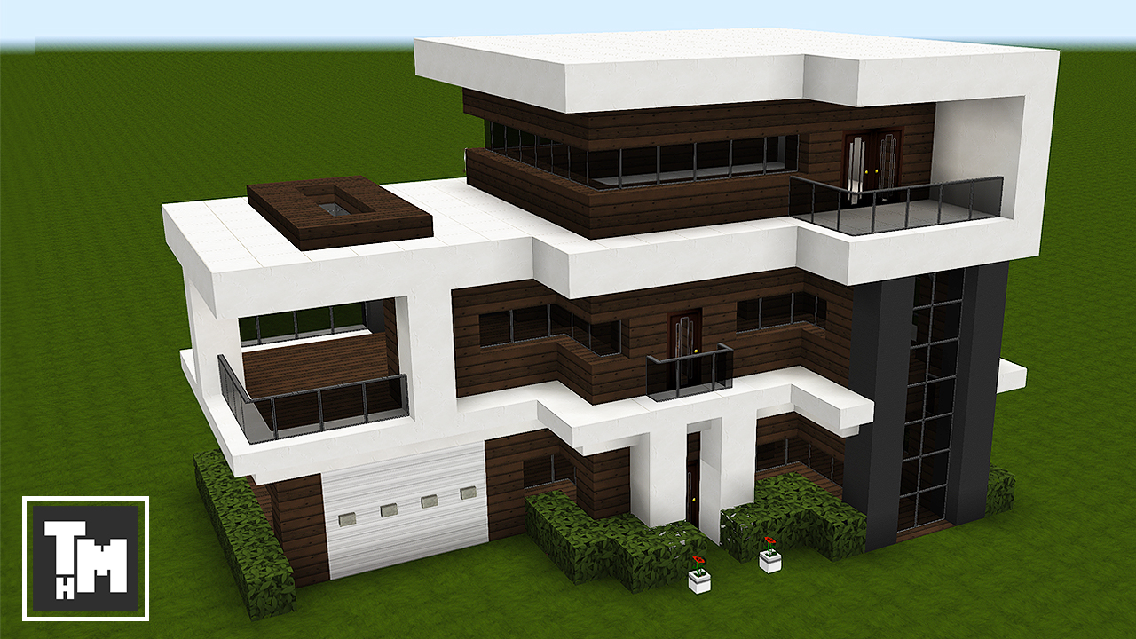 Minecraft how to build a modern house mansion tutorial for Modern house ep 9