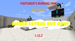 [BIGGER EXTRAS OUT NOW!] YouTuber's Burning Map v1.2.0 Minecraft Map & Project