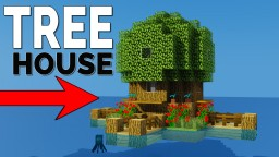 How To Make A Starter TreeHouse Minecraft Map & Project
