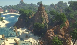 Tropical Island full of Places to Explore [Conquest Reforged] Minecraft Map & Project