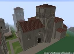 Replica Minecraft of the Church of San Nicolás de Bari, El Almiñe, Burgos, Spain. Minecraft Map & Project