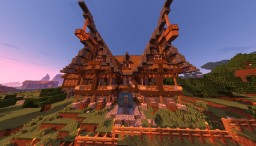 Mediaval fantasy house + interior Minecraft Map & Project