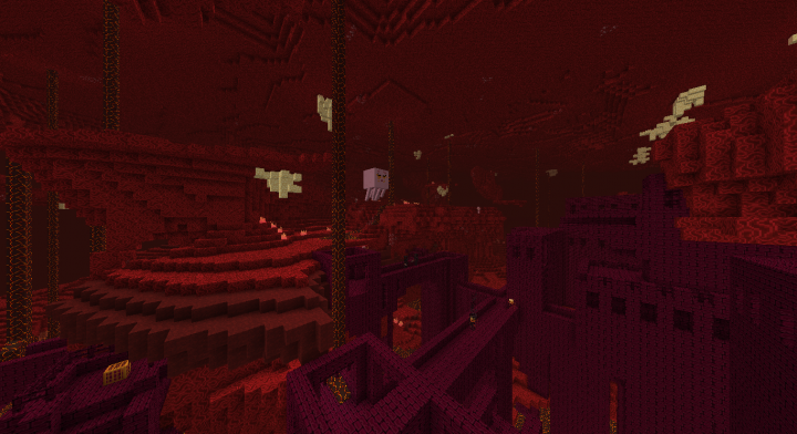 Nether Fortress and a floaty friend