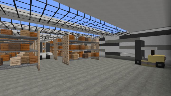 Minecraft Warehouse/Logistics Center (full Interior)