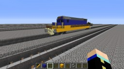 my first attempt to make a train Minecraft Project