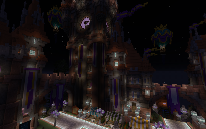 Shops, crates, warps, a player art gallery, and public enchanting area. All easily accessible from spawn.