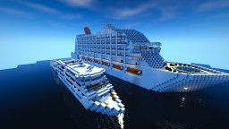 Cruise Ship with ocean monument Minecraft Map & Project