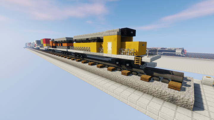 Diesel Freight Train Doubled up