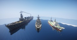 "Three ships ""Kitakami"" Minecraft Map & Project"