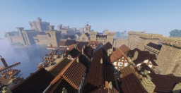 Medieval Castle and Town Minecraft Map & Project