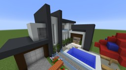Modern House with interior + Ferrari Minecraft Project