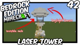 Daylight Sensor Laser Tower Tutorial Minecraft Map & Project
