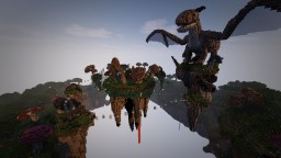 Spawn Server Floating Island Medieval Fantastique (free use) Minecraft