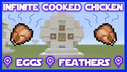 Infinite Daylight Sensor Cooked Chicken Farm Tutorial Minecraft Map & Project