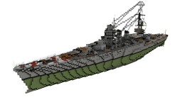 Italian Battleship Giulio Cesare 1:1 Minecraft Map & Project