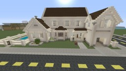 White Suburban House Minecraft Map & Project