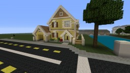 Yellow Suburban House Minecraft Map & Project