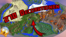 Over 270 decoration ideas + WorldPainter World 3000x3000 Minecraft Map & Project