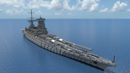 Fictional Japanese Battleship-Monitor - 富士山 (Fujiyama) - For _NamSek_ Minecraft