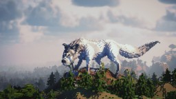 Slightly Surreal Wolf + Timelapse Minecraft Map & Project