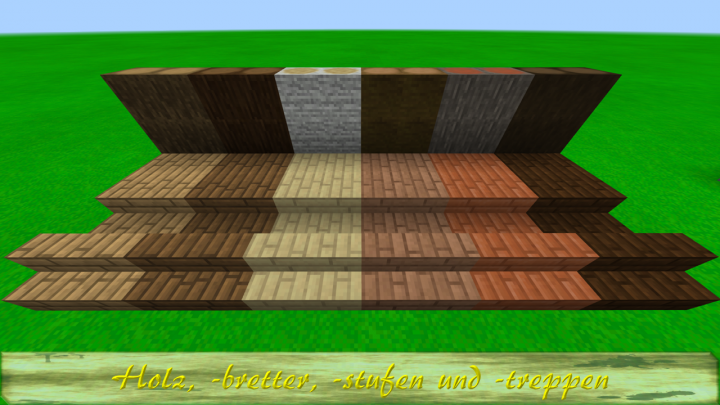 Holz, -bretter, -stufen und -treppen