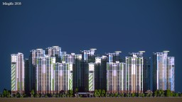 Apartment town (En-bit-ma-ru Apartment II) Minecraft