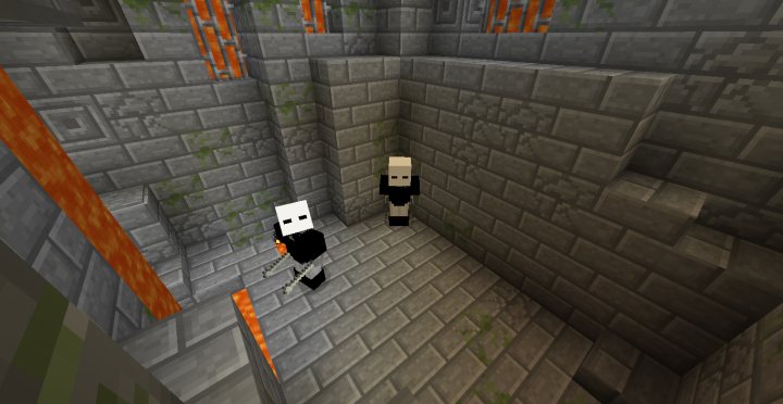 Two types of unique mobs Guards, and Penguins!