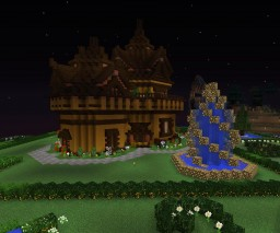 Minecraft  house  - made on the survival server. Minecraft Map & Project