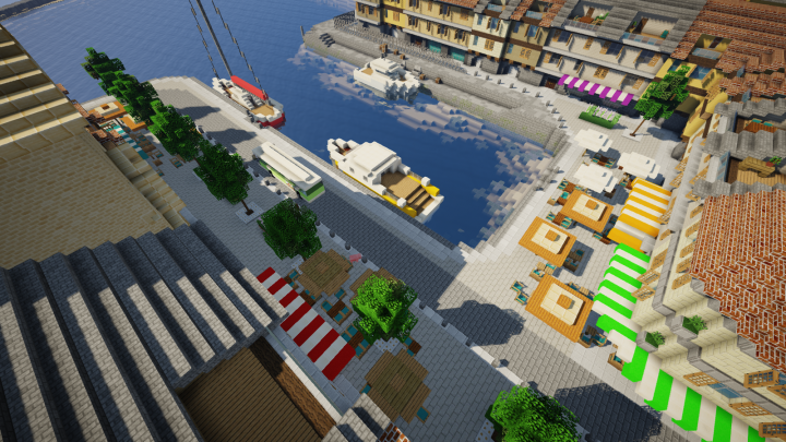 Another view on the touristic port area