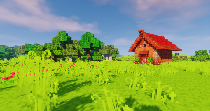 Red house - Taken with Sildur's Vibrant Shaders -Medium